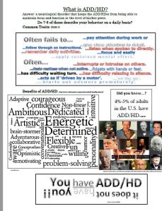 ADD/ADHD Tip sheet